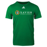 Adidas Kelly Green Logo T Shirt-Xavier Seal Horizontal