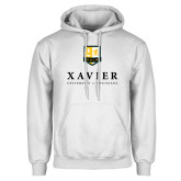White Fleece Hoodie-Stacked Xavier