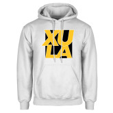 White Fleece Hoodie-XULA with Square