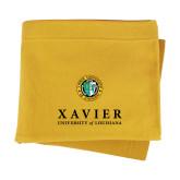 Gold Sweatshirt Blanket-Xavier Seal Vertical