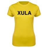 Ladies Syntrel Performance Gold Tee-XULA