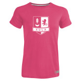 Ladies Russell Pink Essential T Shirt-Primary Mark