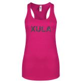 Next Level Ladies Raspberry Ideal Racerback Tank-XULA Glitter