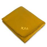 Gold Arctic Fleece Blanket-XULA Wordmark