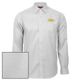 Red House White Diamond Dobby Long Sleeve Shirt-XULA Wordmark