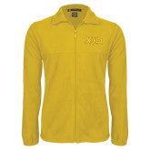 Fleece Full Zip Gold Jacket-XULA Wordmark