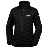 Columbia Powder Lite Ladies Black Jacket-XULA Wordmark
