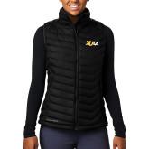 Columbia Lake 22 Ladies Black Vest-XULA Wordmark