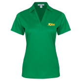 Ladies Kelly Green Performance Fine Jacquard Polo-XULA Wordmark