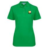 Ladies Easycare Kelly Green Pique Polo-Primary Mark