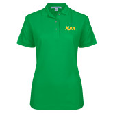 Ladies Easycare Kelly Green Pique Polo-XULA Wordmark