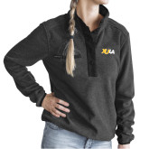 Ladies DRI DUCK Aspen Charcoal Fleece Pullover-XULA Wordmark