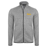 Grey Heather Fleece Jacket-XULA Wordmark