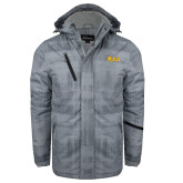 Grey Brushstroke Print Insulated Jacket-XULA Wordmark