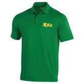 Under Armour Kelly Green Performance Polo-XULA Wordmark