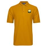 Gold Easycare Pique Polo-Primary Mark