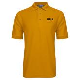 Gold Easycare Pique Polo-XULA