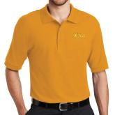 Gold Easycare Pique Polo-XULA Wordmark