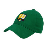 Kelly Green Twill Unstructured Low Profile Hat-Primary Mark