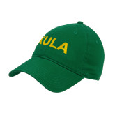 Kelly Green Twill Unstructured Low Profile Hat-XULA