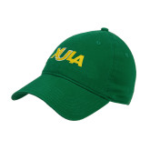 Kelly Green Twill Unstructured Low Profile Hat-XULA Wordmark