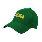 Kelly Green Heavyweight Twill Pro Style Hat-XULA Wordmark