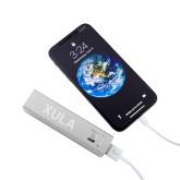 Aluminum Silver Power Bank-XULA  Engraved