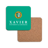 Hardboard Coaster w/Cork Backing-Xavier Seal Vertical
