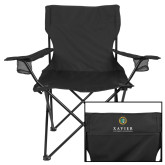 Deluxe Black Captains Chair-Xavier Seal Vertical