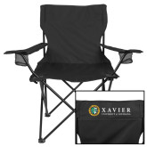 Deluxe Black Captains Chair-Xavier Seal Horizontal