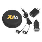 3 in 1 Black Audio Travel Kit-XULA Wordmark