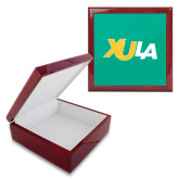 Red Mahogany Accessory Box With 6 x 6 Tile-XULA Wordmark