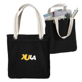 Allie Black Canvas Tote-XULA Wordmark