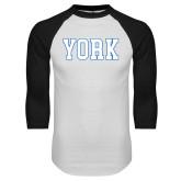 White/Black Raglan Baseball T Shirt-York