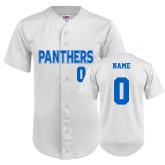 Replica White Adult Baseball Jersey-Personalized