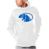Under Armour White Armour Fleece Hoodie-Panther Head