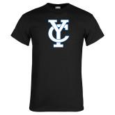 Black T Shirt-Interlocking YC