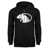 Black Fleece Full Zip Hoodie-Panther Head