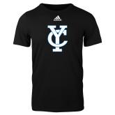 Adidas Black Logo T Shirt-Interlocking YC