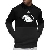 Adidas Black Team Issue Hoodie-Panther Head