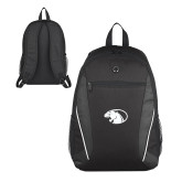 Atlas Black Computer Backpack-Panther Head