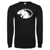 Black Long Sleeve T Shirt-Panther Head
