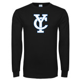 Black Long Sleeve T Shirt-Interlocking YC
