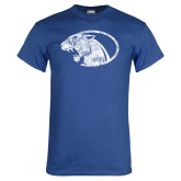 Royal T Shirt-Panther Head Distressed