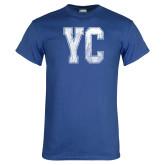 Royal T Shirt-YC Distressed