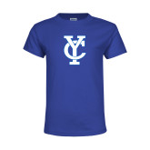 Youth Royal T Shirt-Interlocking YC