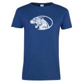 Ladies Royal T Shirt-Panther Head Distressed