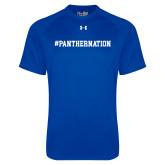 Under Armour Royal Tech Tee-Hashtag PantherNation
