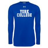 Under Armour Royal Long Sleeve Tech Tee-York College