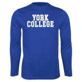 Performance Royal Longsleeve Shirt-York College